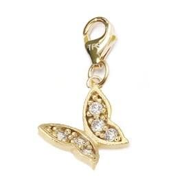 Julieta Jewelry Butterfly CZ Clip-On Charm