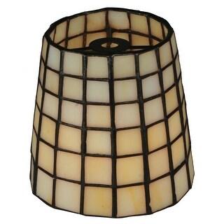 "Meyda Tiffany 99603 4"" W X 4"" H Geometric Replacement Shade - beige"