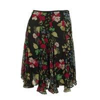Ralph Lauren Women's Georgette Floral Print Skirt