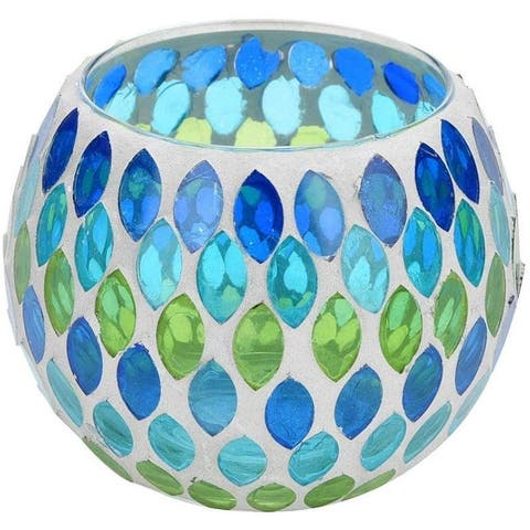 Mosaic Glass Teardrops Candle Holder