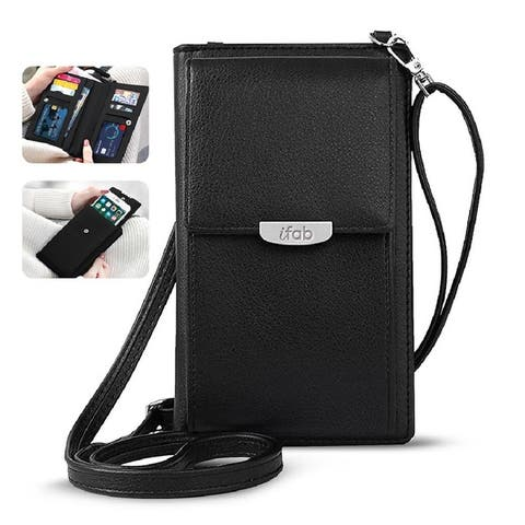 iFab Small Crossbody Bag for Women, Cell Phone Purse Wallet with Credit Card Slots