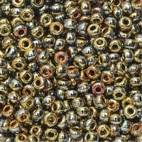 BeadSmith Unions, 8/0 Round Seed Beads, 22 Gram Tube, Black California Sun