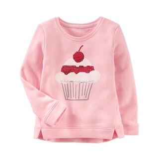 OshKosh B'gosh Baby Girls' French Terry Cupcake Pullover