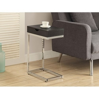 Monarch Specialties Laptop accent table with drawer I Laptop Side Table with Drawer