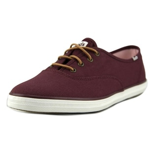 Keds CH Ox Women  Round Toe Canvas Burgundy Sneakers
