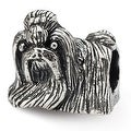 Sterling Silver Reflections Shih Tzu Bead (4mm Diameter Hole) - Thumbnail 0