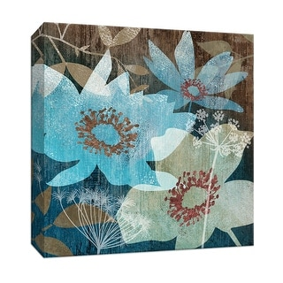 """PTM Images 9-146753  PTM Canvas Collection 12"""" x 12"""" - """"Indigo Garden II"""" Giclee Flowers Art Print on Canvas"""