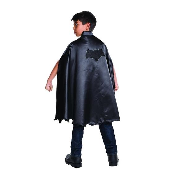 Dawn Of Justice Deluxe Batman Costume Cape Child One Size - Black