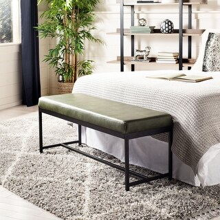 """Link to Safavieh Chase Vegan Leather Bench - 47.3"""" x 16"""" x 19.5"""" - 47.3"""" x 16"""" x 19.5"""" Similar Items in Living Room Furniture"""