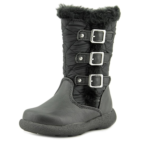 Rachel Shoes Katniss Toddler  Round Toe Synthetic Black Winter Boot