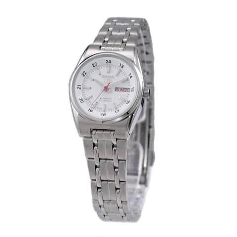 Seiko Women's SYMB93J1 'Seiko 5' Stainless Steel Watch - White