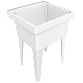 "PROFLO PFLT2123  23"" Single-Basin Free Standing Laundry Sink - White"