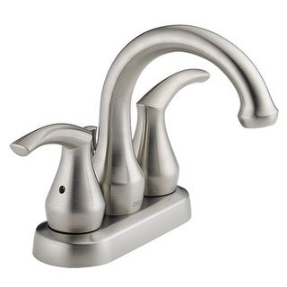 Delta 25715LF-SS Andover Centerset Bathroom Sink Faucet in Stainless Steel