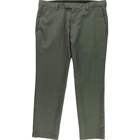 Kenneth Cole Mens Skarkskin Dress Pants Slacks, Grey, 38W x 29L - 38W x 29L