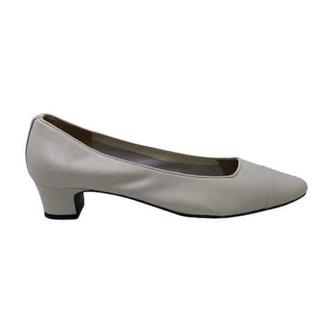 Vaneli Women's Shoes Rickie Leather Cap Toe Classic Pumps