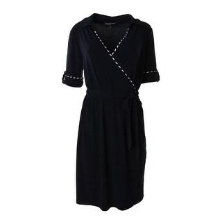 Jones New York Womens Matte Jersey A-line Wear to Work Dress - XL