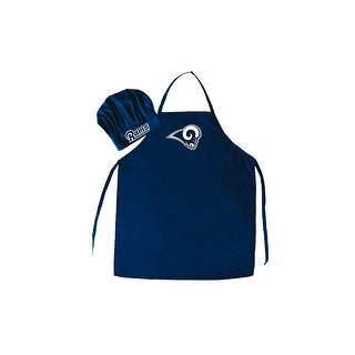 Los Angeles Rams NFL Barbecue Apron and Chef's Hat 2 pc Set Game Day Tailgating