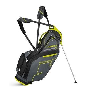 New Sun Mountain Three 5 Zero G Stand Bag - Gunmetal/Black/Citron - CLOSEOUT - gunmetal / black / citron