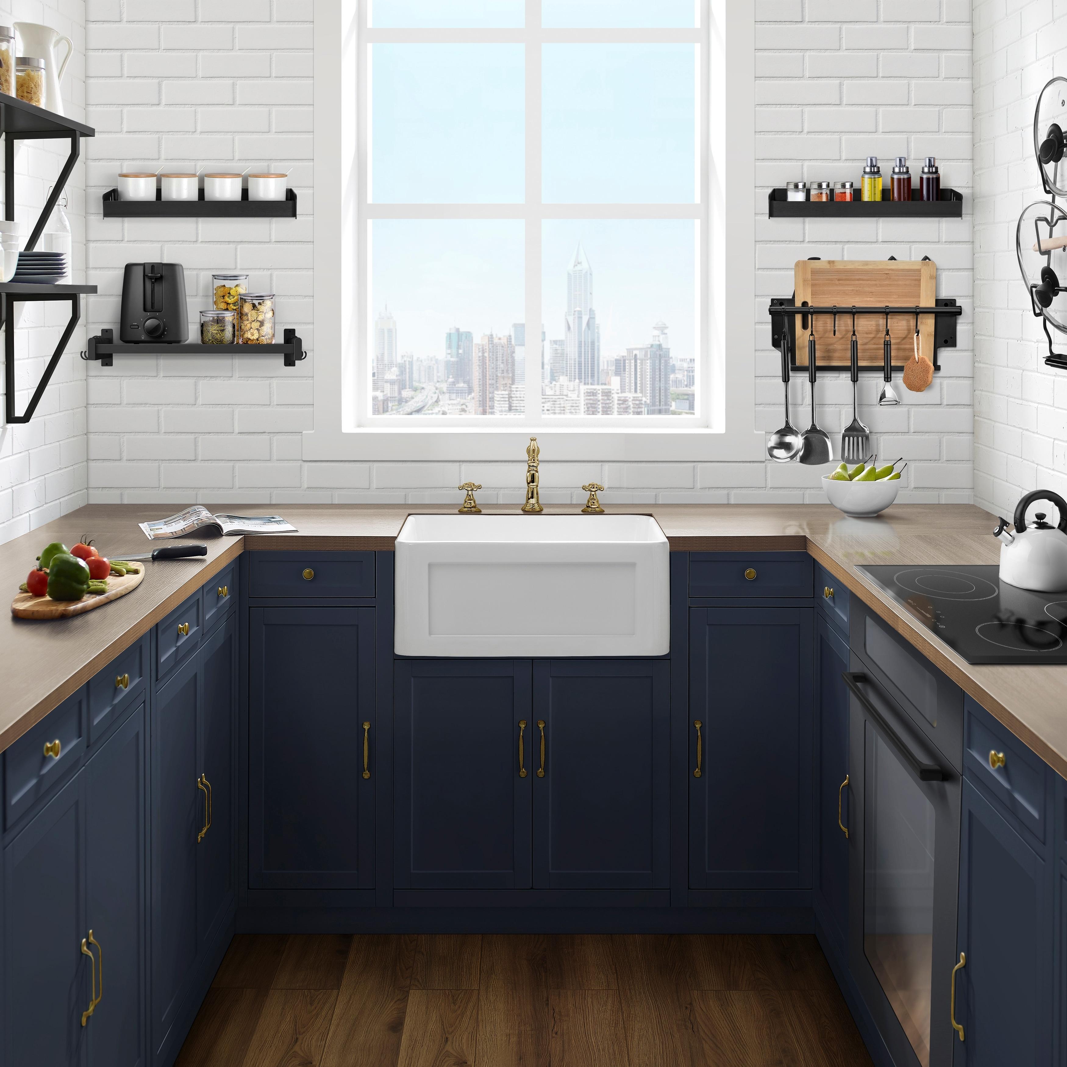 Shop Delice 24 X 18 Ceramic Farmhouse Kitchen Sink 24 X 18 Overstock 28228441