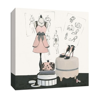 """PTM Images 9-152666  PTM Canvas Collection 12"""" x 12"""" - """"Dress Fitting IV"""" Giclee Fashion Art Print on Canvas"""