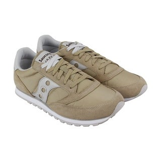 Saucony Jazz Low Pro Mens Tan Mesh Lace Up Sneakers Shoes