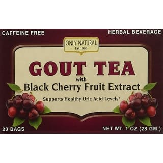 Only Natural Gout Tea Blk Chry Frt Ext 20 Bag https://ak1.ostkcdn.com/images/products/is/images/direct/075fb74a555bc05a7f5fc6abef46d4e03cf902a1/ONLY-NATURAL---GOUT-TEA%2CBLK-CHRY-FRT-EXT-20-BAG.jpg?impolicy=medium
