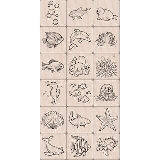 """Hero Arts Ink 'n Stamp Tub 3""""X4""""-Sea Life"""
