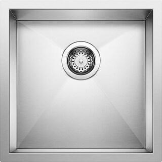 "Blanco 518168  Quatrus Bar Sink Undermount Single Basin 17"" x 17"" - Satin"