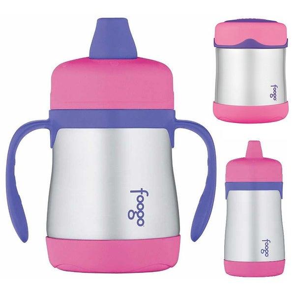 Thermos Foogo 10oz / 7oz Sippy Cup w/ 10oz Food Jar (Pink/Purple)