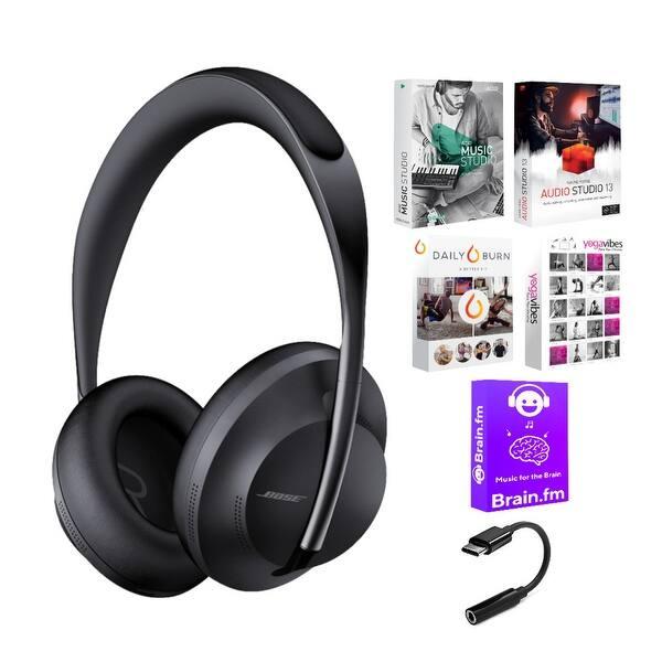 Shop Black Friday Deals On Bose 700 Noise Cancelling Bluetooth Headphones Triple Black Bundle Overstock 30609307