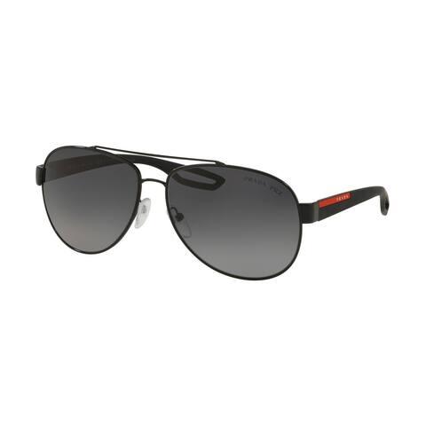 Prada Linea Rossa PS 55QS 1AB5W1 62 Black Man Pilot Sunglasses