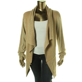 Kenneth Cole New York Womens Sabrina Metallic Open Front Cardigan Sweater - S