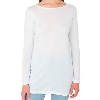 American Apparel NEW White Solid Women's Size Medium M Tunic Knit Top