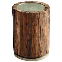 Cyan Design Up A Tree Side Table Up A Tree 16.5 Inch Diameter Iron and Wood Side Table Made in India