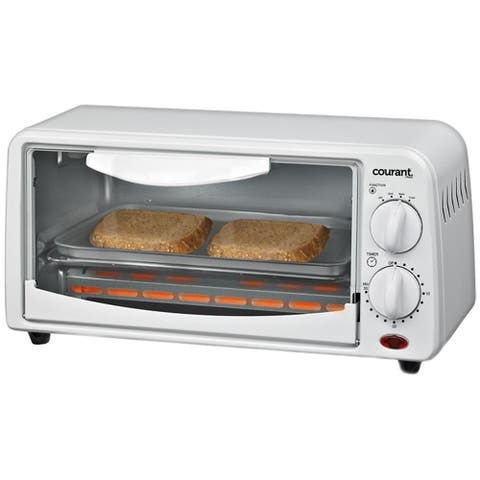 Courant Compact Toaster Oven, White