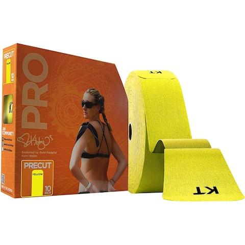 "KT Tape Pro Jumbo 10"" Precut Kinesiology Sports Roll - 150 Strips - Yellow"