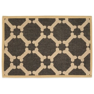 Buddy's Line Natural Jute Pet Placemat, Brown Background
