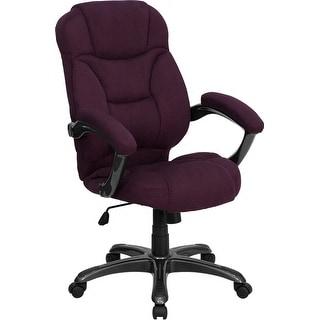 Aberdeen High-Back Grape Microfiber Executive Swivel Chair w/Arms