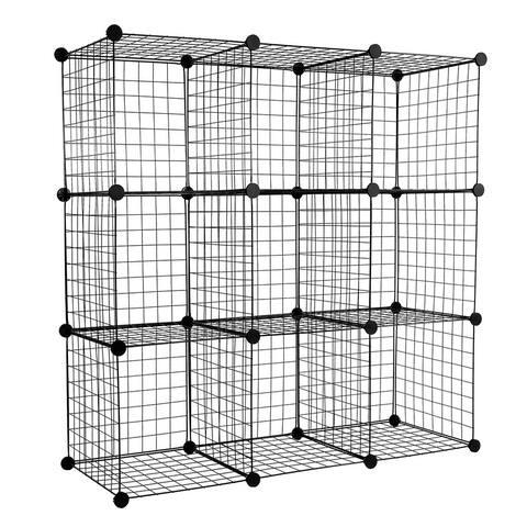 Work-It! 9-Cube Wire Storage Organizer