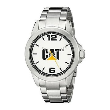 CAT WATCHES mens YS14011232 Icon Analog Display Quartz Silver Watch