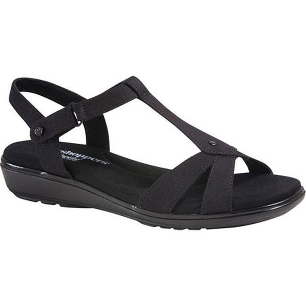 f7490be6e515 Shop Grasshoppers Women s Rose Sandal Black Canvas - Free Shipping On  Orders Over  45 - Overstock.com - 11789595