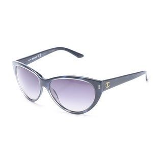 Just Cavalli Women's Cat Eye Sunglasses Dark Blue - Small