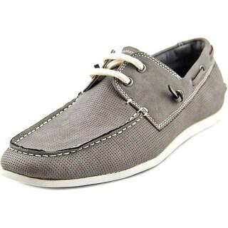 Madden Men Game On Men Moc Toe Synthetic Gray Boat Shoe