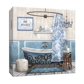 "PTM Images 9-147835  PTM Canvas Collection 12"" x 12"" - ""Blue Bath Retreat II"" Giclee Bathroom Art Print on Canvas"