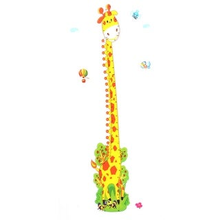 Growth Chart Giraffe Printed Removable DIY Wallpaper Wall Sticker Decal