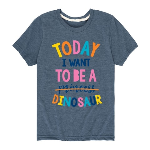 Want To Be A Dinosaur - Kid's Short Sleeve Graphic T-Shirt