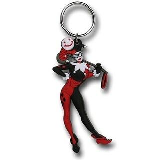 """DC Comics Soft Touch PVC Key Ring: """"Harley Quinn"""" - Multi"""
