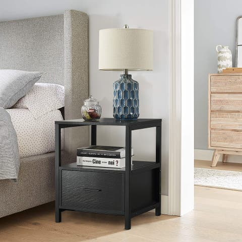 VECELO Square Side Table/Sofa Table/End Table/Nightstand with Drawers
