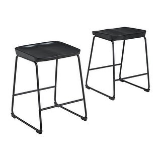 Link to Showdell Contemporary Barstool Set of 2, Black Similar Items in Dining Room & Bar Furniture