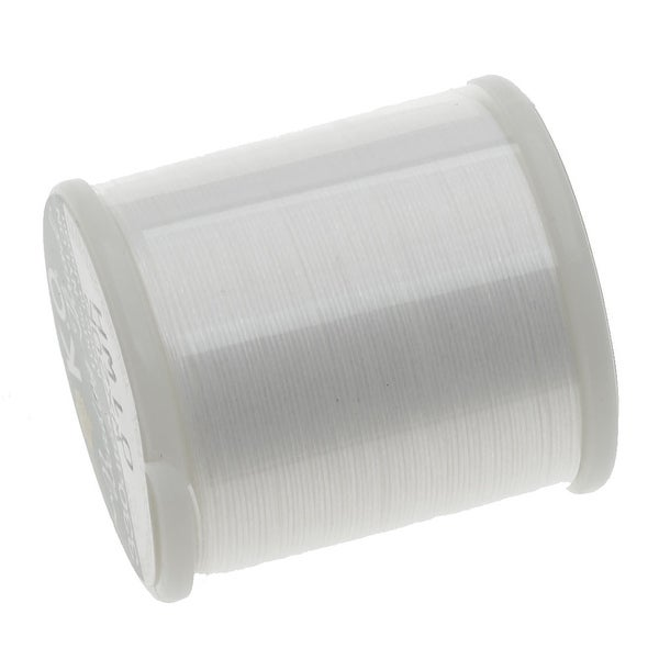 Japanese Nylon Beading K.O. Thread for Delica Beads - White 50 Meters